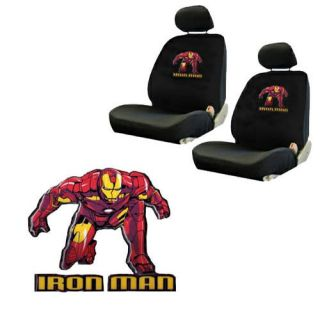 Ironman Avengers Comics Low Back Bucket Car Seat Cover Set Fit