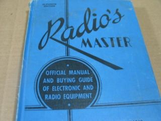 1945 Radios Master Official Manual & Buying Guide Vacuum Tubes