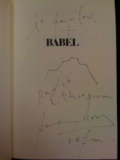 Babel Patti Smith Signed Copy Inscribed and Signed B