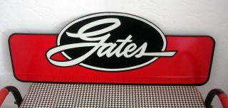 Vintage Gates Automotive Tin Sign Advertising Belts Hoses Car Parts