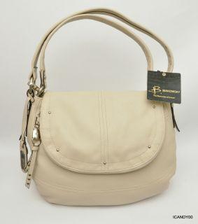 278 B Makowsky Synthia Messenger Shoulder Bag Handbag Tote Stone