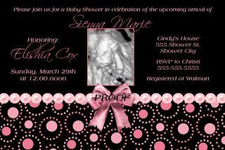 Boy Girl Ultrasound Baby Shower Invitation 50 Designs