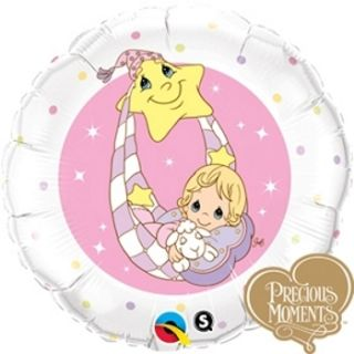 precious moments sweet baby girl it s a girl 18 balloons