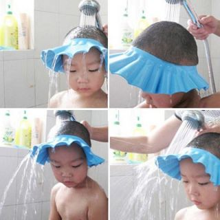 Baby Shower Cap Child Children Kid Shampoo Bath Wash Hair Shield Hat