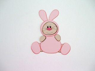 Baby Bunny Halloween Costume Cardstock DieCut