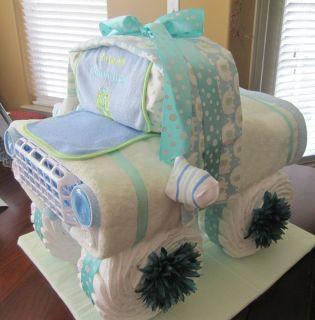 Baby Shower Truck Diaper Cake Centerpiece Hospital Gift