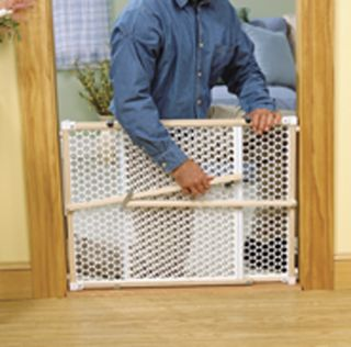 safety 1st 24 wood security baby child pet gate new keep kids or pets