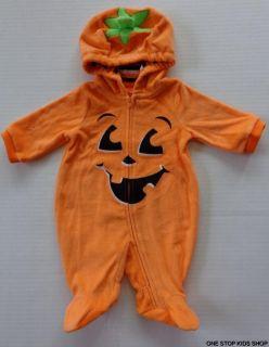 Pumpkin Baby Boys Girls 0 3 6 Months Halloween Costume Dress Up