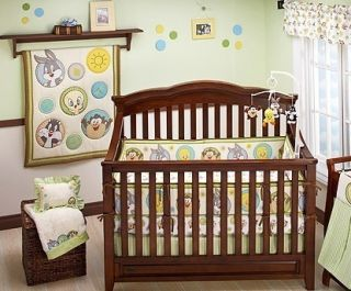 Baby Looney Tunes Tweety Circles 4 Piece Crib Bedding Set