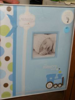 Lil Peach My Memory Book Baby Record Book Ink Pad Blue Boy Train New