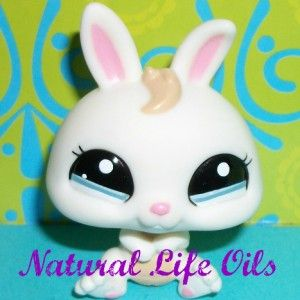 Littlest Pet Shop~#2019 CREAMY WHITE DWARF BABY BUNNY RABBIT~F122 Rare