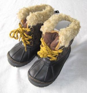 Baby Gap Aviator Roman Getaway Duck Boots 7 8 9 10 11 Boys Sherpa New
