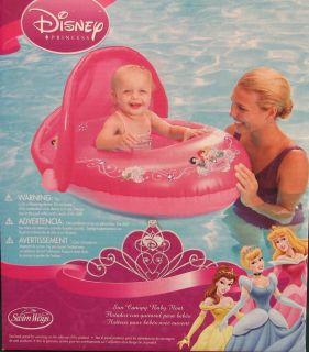 Sun Canopy Kids Baby Inflatable Chair Float Swimways Snow White