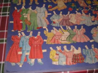 Vintage 1940s Baby Toddler Paper Dolls 6 Clothing Accessories 4G