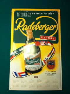 Collectible Advertising Beer Sign Tin Radeberger German Beer Pilsner