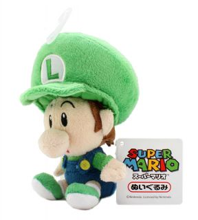 Nintendo Super Mario 5 Plush Sanei Doll Baby Luigi