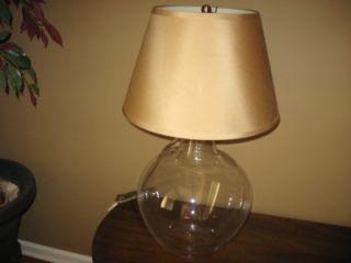Pottery Barn Bacchus Glass Table Lamp Base Wine Jug New