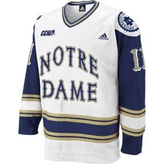 Dame Fighting Irish Adidas White 11 Hockey Jersey Sz Medium