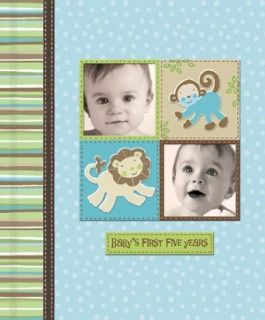 Silly Monkey Baby Boy First Five Years Keepsake Record Book with