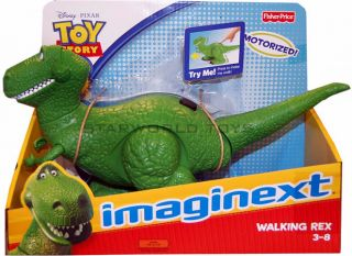 Imaginext Walking Rex Motorized Toy Story 3 Disney Pixar Fisher Price