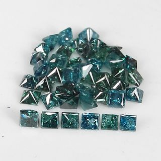 14cts Fantastic Blue Princess Loose Diamonds Natural Lot
