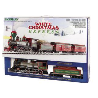 Bachmann G Scale White Christmas Large Train Set 1