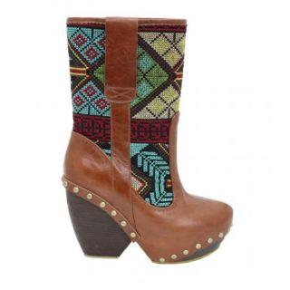 Irregular Choice Mandarim in Tan Brown Womens Boots New Various Sizes