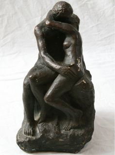 Austin Productions Vintage Sculpture Man Woman Couple Lovers Embrace