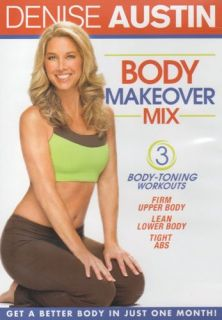 Denise Austin Body Makeover Mix 3 Toning Workouts DVD New SEALED