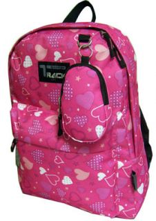 Pink Backpack with Hearts School Pack Bag Day Bag 205