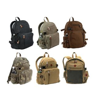 Vintage Military Mini Backpacks Army Tactical Camo Pack Zippered