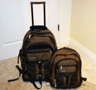 Windpass Wheeled Backpack Detachable Daypack Rolling Suitcase Luggage