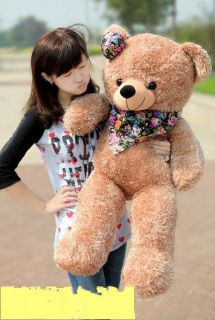 NEW GIANT 80 TEDDY BEAR PLUSH HUGE SOFT 100% COTTON TOY *Light brown