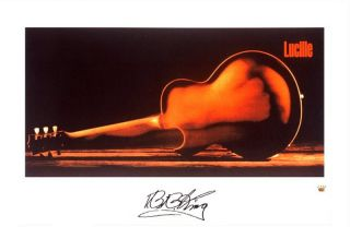 King Autographed Signed Limited Edition Lithograph Lucille Poster