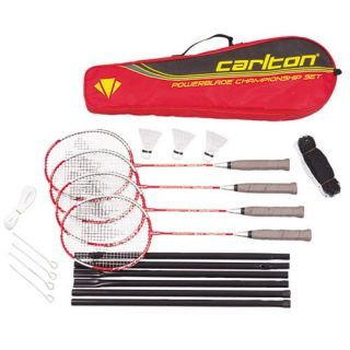 Carlton Championship 4 Player Badminton Set Backyard Outdoor Game