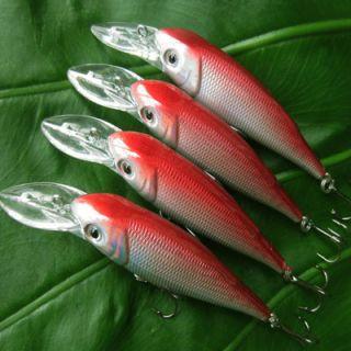 4Pcs RAP Medium Running Crankbait Fishing Lures Bait Tackle 90HB