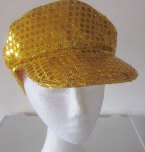 Quality 70s Disco Diva Sequin Baker Boy Cap Hat Costume