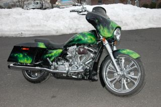 Chrome Bagger Bars Handlebars Harley Touring Electra Street Glide FLHT