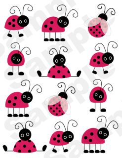 Red Black Nursery Baby Girl Kids Wall Art Sticker Decal Decor