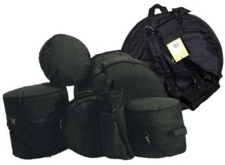 Complete Drum Set Bags Cases 7 Piece Set w Nice Cymbal Bag