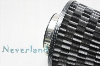 """Car Truck SUV Universal 3"""" 75mm High Flow Air Intake Cone Filter"""