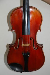 Old Antique French Violin Labelled Charles Bailly Beautiful