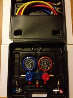 Car Air Conditioning Refrigeration Manifold Gauge R134a with Quick