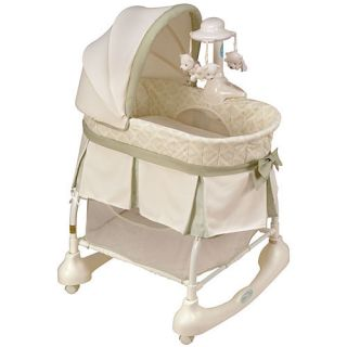 Cuddle N Care Rocking Bassinet Vibrating Mobile Crib Infant Baby