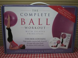 Complete Ball Workout Pilates Exercise Ball DVD Book