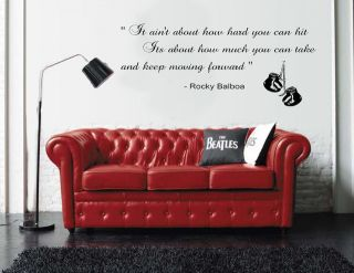 Rocky Balboa Inspirational Quote Wall Sticker Bedroom / Kitchen vinyl