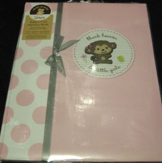 for Little Girl Baby First Memory Record Book Album Monkey