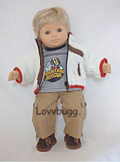 Baby Boy Sherpa Set Outfit fits Bitty Twins & 15 16 inch dolls WIDEST