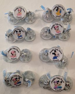 180 Personalized Baby Minnie Mickey Mouse Baby Shower Hersheys Kiss