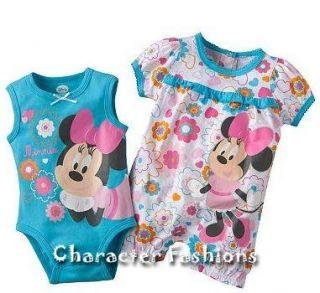 Romper Creeper Size 3 6 9 Months Shirt Set Disney Baby Girls